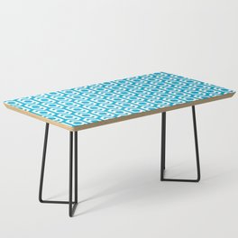 Modern Hive Geometric Repeat Pattern Coffee Table