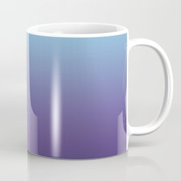 Ombre Blue Ultra Violet Gradient Pattern Coffee Mug