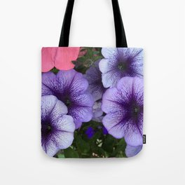 Purple Petunias Tote Bag