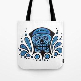 Blue Skull Tote Bag