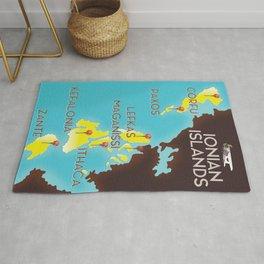 ionian Islands map Rug