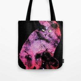 Celestial Cat - The British Shorthair & The Pelican Nebula Tote Bag
