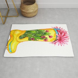 Collection of cacti and succulents Rug