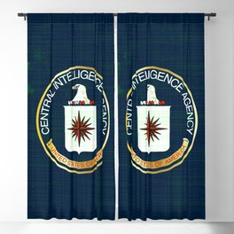 CIA Flag Grunge Blackout Curtain