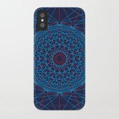 Geometric Circle Blue/Red Slim Case iPhone X