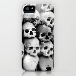 UNNESSASARY SACRIFICES // Skulls of Cambodia Killing Fields iPhone Case