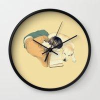 reading Wall Clocks featuring Reading by Anna Araslanova
