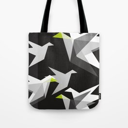 Black and White Paper Cranes Tote Bag