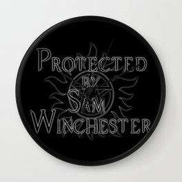 Protected by Sam Winchester Wall Clock