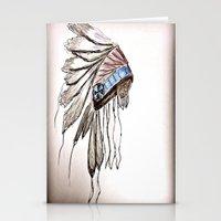 headdress Stationery Cards featuring headdress by Sabrina Shai