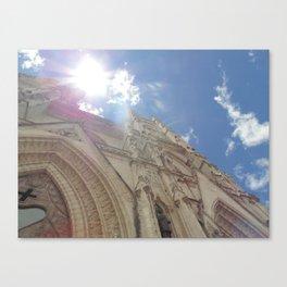 La Basílica del Sagrado Voto Nacional, Trece Canvas Print