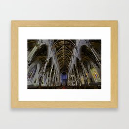 CATHEDRAL OF THE HOLY CROSS, BOSTON MA Framed Art Print