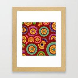Colorful Indian Henna Mandala Pattern Framed Art Print