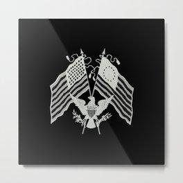 U.S. Flags & Eagle Metal Print