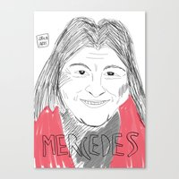 mercedes Canvas Prints featuring MERCEDES SOSA by JJ Richards