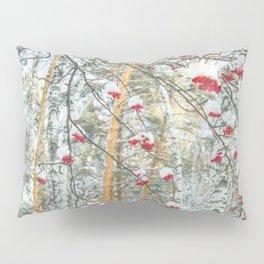 Winter Rowan and birchs Pillow Sham
