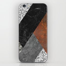 Marble, Granite, Rusted Iron Abstract iPhone Skin