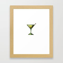Drinking Ok But First Dirty Martini Olives Framed Art Print