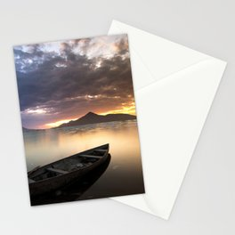Mountain Sea Boat Landscape Stationery Cards