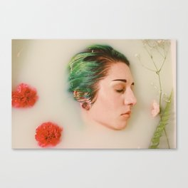 Floral Milk Bath Canvas Print