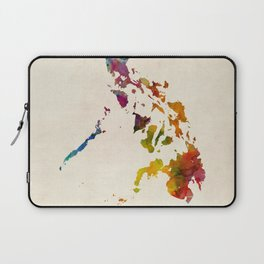 Philippines Watercolor Map Laptop Sleeve