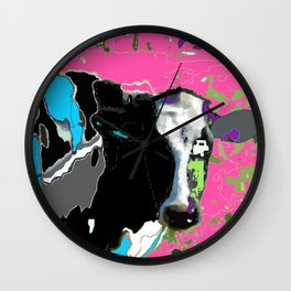 Painted cow Wall Clock