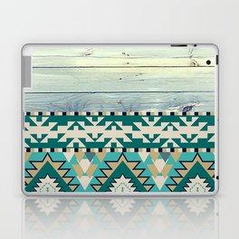 Aztec Pattern on Wood Panel NOT REAL WOOD - Triba Laptop & iPad Skin