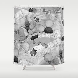 Design 117 Greyscale Abstract Shower Curtain