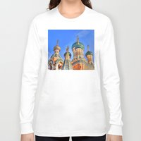 russia Long Sleeve T-shirts featuring Basilica in Russia  by Limitless Design