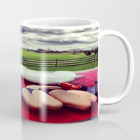 woodstock Mugs featuring Woodstock by Leah Galant