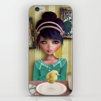 chicken iPhone & iPod Skins featuring Chicken by solocosmo