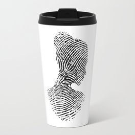 Fingerprint Silhouette Portrait No.1 Travel Mug