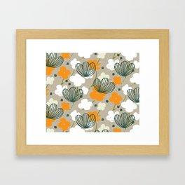 Spring Garden M+M Latte by Friztin Framed Art Print