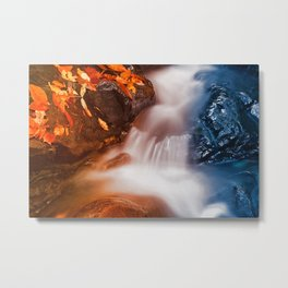 Stream of Fire & Ice Metal Print