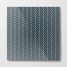 Lines Blue Background Metal Print