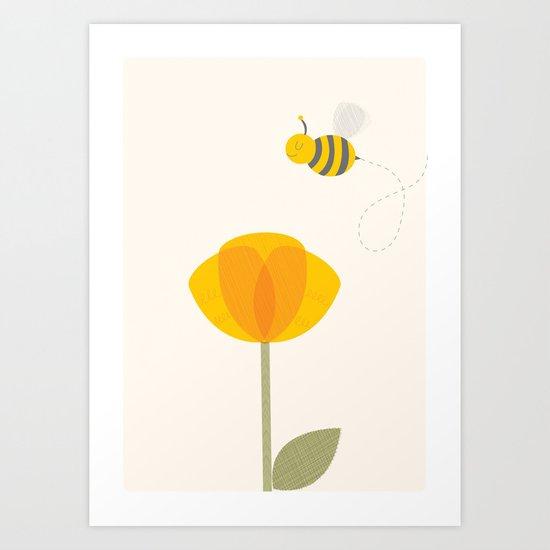Bee a Flower Art Print