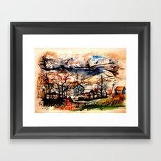 Mountain Storm Framed Art Print