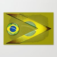 brasil Canvas Prints featuring Brasil by ilustrarte