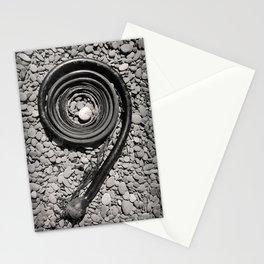 Bull Kelp Seaweed Northwest Pacific Ocean Pebble Beach Washington Rocks Abstract Black White Spiral Stationery Cards