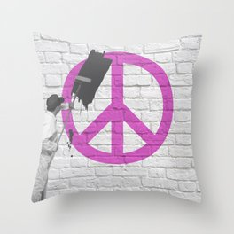 No Peace Allowed! Throw Pillow