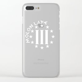 Molon Labe Three Percenter Clear iPhone Case