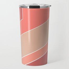 Terracotta , beige , abstract Travel Mug