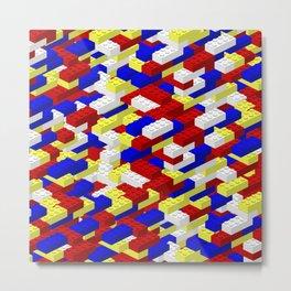 Colorful toy bricks Metal Print