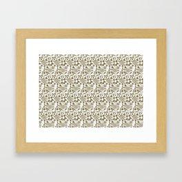 Heart attack pattern1 Framed Art Print