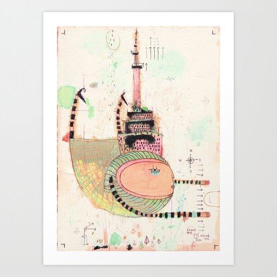 Fly Toronto Art Print