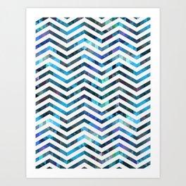 Triangles Fluid Ice Waves Art Print