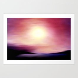 sunset in september. Art Print