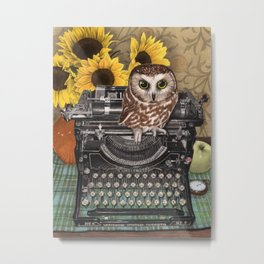 Office Owl Metal Print