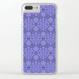 Sri Yantra  pattern - pastel purple and silver Clear iPhone Case