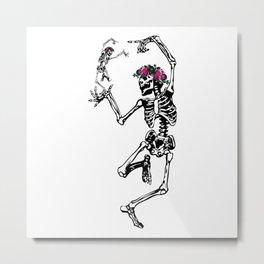Two Dancing Skeletons | Day of the Dead | Dia de los Muertos | Metal Print